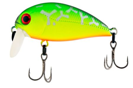 Colour fishing bait with two hooks isolated on white photo
