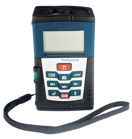lazer: Professional tool - lazer range-finder isolated on white background Stock Photo