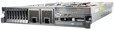 Rack mount server without top cover, isolated on the white Stock Photo - 8223889