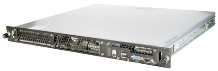 rack mount: Rack mount server isolated on the white