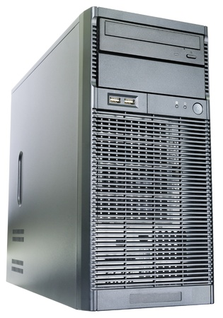 Desktop server  isometric view isolated on the white Stock Photo