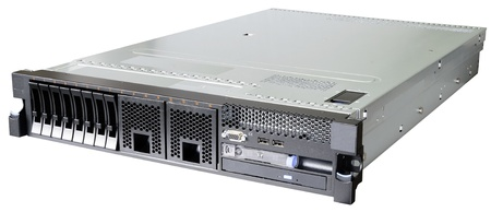 Rack mount server isolated on the white