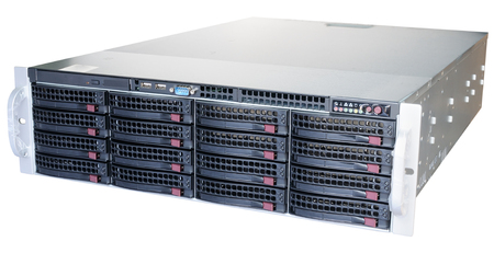 rack mount: Rack mount disk storage system isolated on the white background