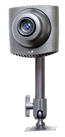 supervision: Supervision video camera isolated on white background Stock Photo