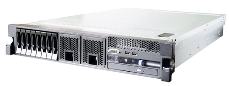 Rack mount server isometric view  isolated on the white Stock Photo