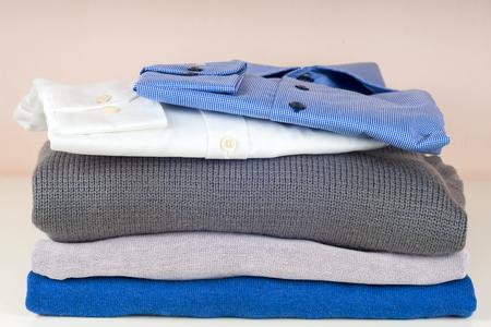 stuff: stack of clothing isolated on white