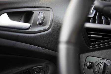 Car Interior Driver Side View. Modern Car Interior Design