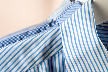 Cloth Hangers with Shirts. Mens business clothes. Fashion Reklamní fotografie