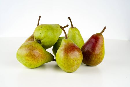 Pears isolated on white background. Copy space for text Reklamní fotografie