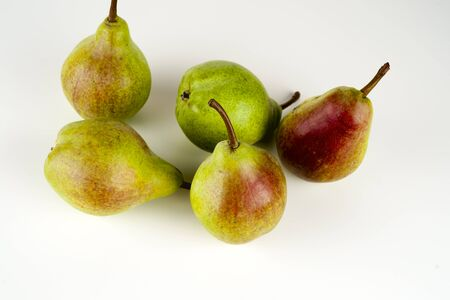 Pears isolated on white background. Copy space for text 写真素材