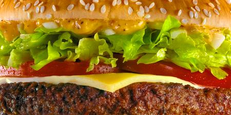 Verse hamburger, textuurbeeld. Stockfoto