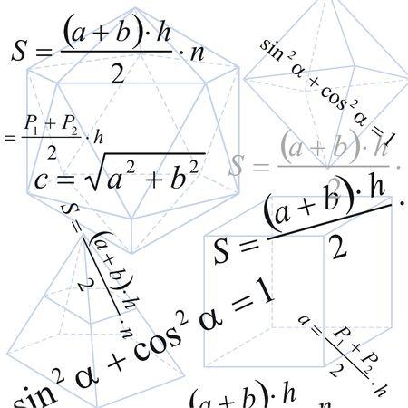 geometria: Geometr�a de antecedentes con la f�rmula y las cifras sobre papel blanco