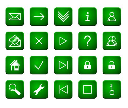 Green web buttons Stock Photo - 3969881