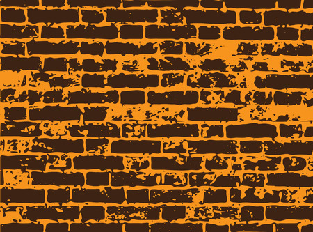 dribbling: Vector brick wall