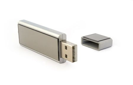 Silver usb flash drive photo