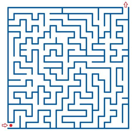 Vector maze photo