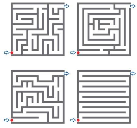 deadlock: Set of small labyrinth Stock Photo