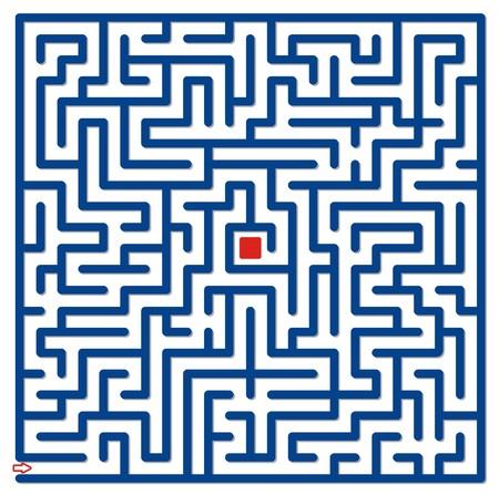 hint: Big blue labyrinth Stock Photo