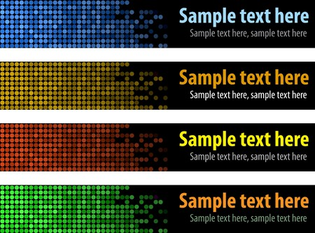 Vector banners for website Stock Photo - 4538301
