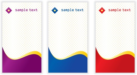 Set of vertical business card templates Stock Photo - 4538235