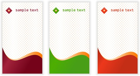 Set of vertical business card templates photo