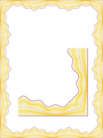 Guilloche border for diploma or certificate Stock Photo - 4538308