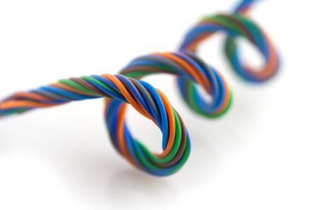 Colored wire spiral photo