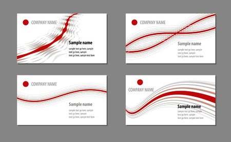 Business cards templates Stock Vector - 4604793