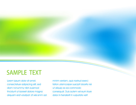 Abstracrt blured blue and green background Stock Vector - 4604795