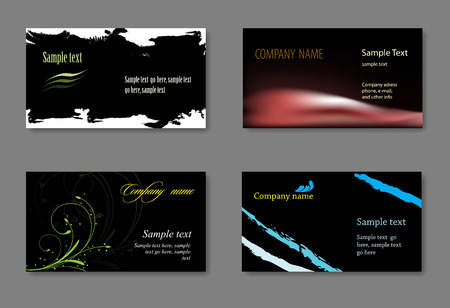 identification card: Vector business card templates