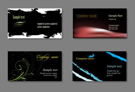personalausweis: Vector Visitenkarte Vorlagen