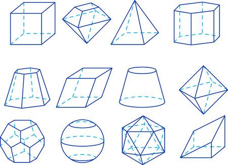 octahedron: Geometrical figures