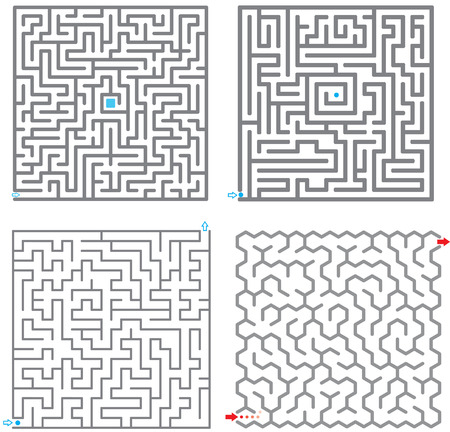 Set of small labyrinth Stock Vector - 4714892