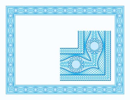 Guilloche border for diploma or certificate Stock Vector - 4827769