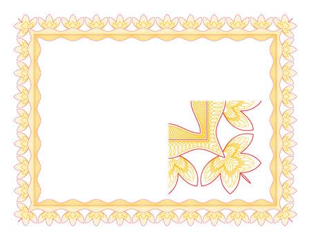 Guilloche border for diploma or certificate Stock Vector - 4827767