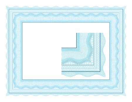 Guilloche border for diploma or certificate Stock Vector - 4827768