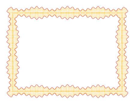 Guilloche border for diploma or certificate Stock Vector - 4827762