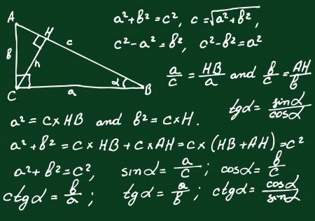 Matemáticas fondo Ilustración de vector