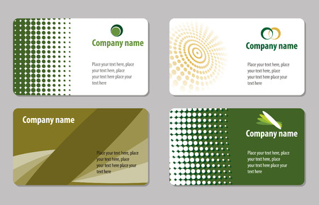 Green business cards templates collections Stock Vector - 4827772