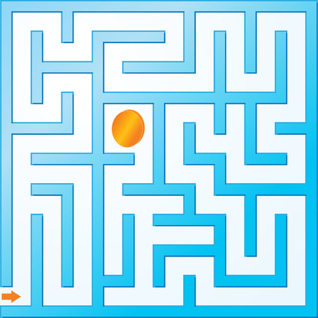 Small vector maze Stock Vector - 4876990