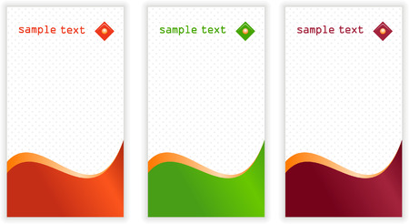 Set of vertical business card templates Stock Vector - 4877007