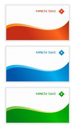 Set of horisontal business card templates Stock Vector - 4877006