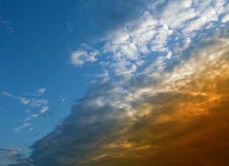 puffy: Blue sky with clouds
