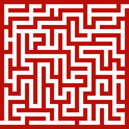 Red maze Vector