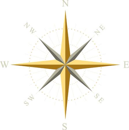 Compass. Vector illustration.