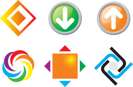 construction companies: Set of Abstract icons