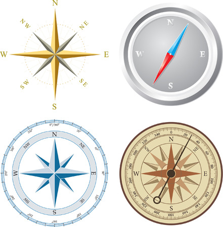 Compass. Vector illustration. Vector