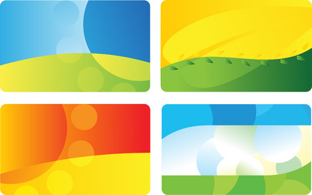Set of business card backgrounds Vector