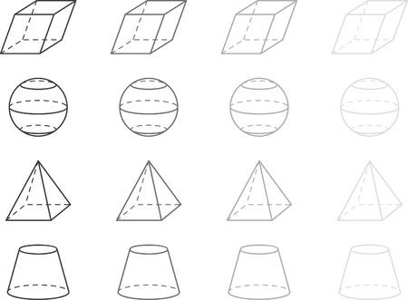 octahedron: Gray geometry figures Illustration