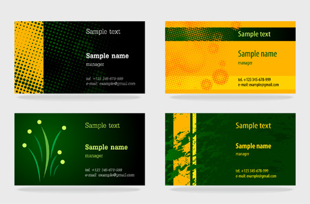Green business cards collections Stock Vector - 5196471